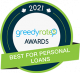 GreedyRates best for personal loans award
